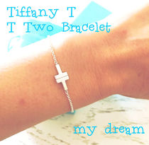 【Tiffany】T Two Single Chain Bracelet in silver