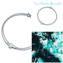 【Tiffany】T Two Double Chain Bracelet in silver