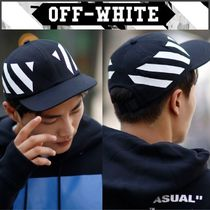 【OFF WHITE】正規品18FW DIAG BRUSHED BLACK キャップ/追跡送料