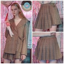 日本未入荷ROLAROLAの(SK-18522) GLEN CHECK PLEATS SKIRT