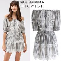 Chicwish☆Summer Cool Stripes Off-Shoulder Top and Skirt Set