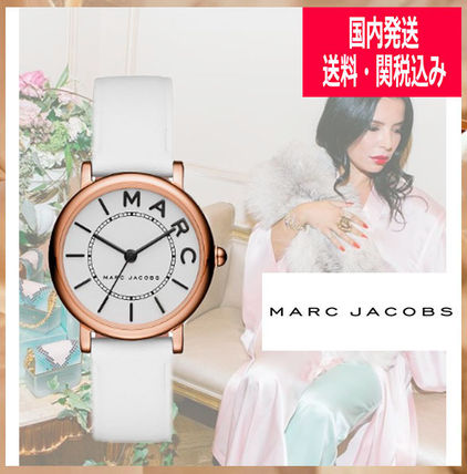 【MARC JACOBS】CLASSIC White Gold レザー 28mm(送関込) MJ1562