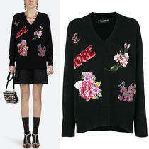 18-19AW DG1763 EMBELLISHED CASHMERE SWEATER