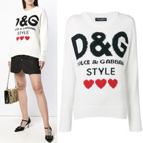 18-19AW DG1767 D&G STYLE INTARSIA CASHMERE SWEATER