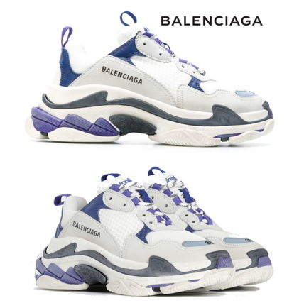 BALENCIAGA スニーカー 新色★BALENCIAGA Triple-S/White/Navy/Purple【関税込】