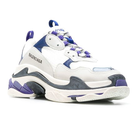 BALENCIAGA スニーカー 新色★BALENCIAGA Triple-S/White/Navy/Purple【関税込】(2)