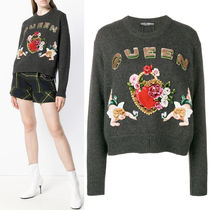 18-19AW DG1768 EMBELLISHED CASHMERE SWEATER