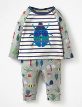 【Boden】昆虫アップリケ長袖Tシャツ&プリントパンツ 18m-4y