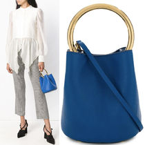 18-19AW M509 PANNIER BUCKET BAG IN CALF LEATHER