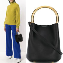 18-19AW M511 PANNIER BUCKET BAG IN CALF LEATHER