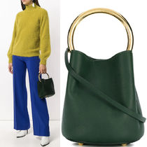 18-19AW M512 PANNIER BUCKET BAG IN CALF LEATHER