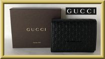 GUCCI  マイクログッチシマ  三つ折コンパクト財布【国内発送】