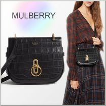 18-19AW★Mulberry クロコ型押し スモール Amberley バッグ