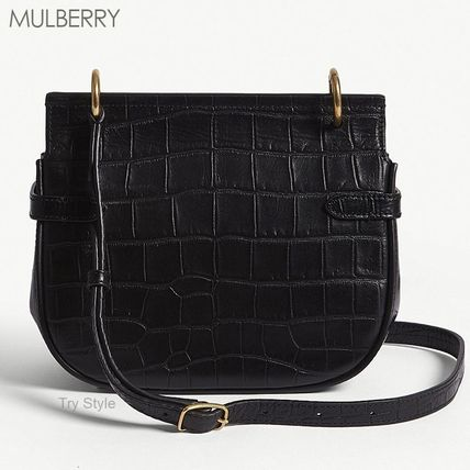 Mulberry ショルダーバッグ・ポシェット 18-19AW★Mulberry クロコ型押し スモール Amberley バッグ(2)