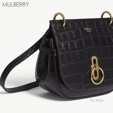 Mulberry ショルダーバッグ・ポシェット 18-19AW★Mulberry クロコ型押し スモール Amberley バッグ(3)