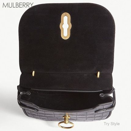 Mulberry ショルダーバッグ・ポシェット 18-19AW★Mulberry クロコ型押し スモール Amberley バッグ(4)