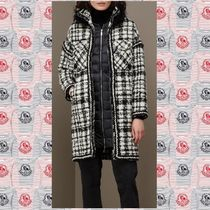 MONCLER GAMME ROUGE LUDMILIAアルパカウールファーダウン 黒