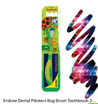 Erskine Dental Piksters Bug Brush Toothbrush 2-5 YRS