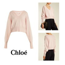 【Chloe】Cashmere and cotton-blend sweater