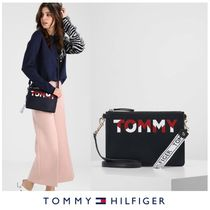 TOMMY HILFIGER☆Iconic Logo Zip Pouch ショルダー/クラッチ