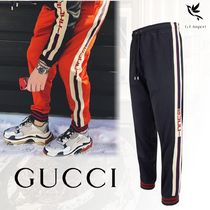 【VIP SALE】GUCCI☆グッチ ロゴ付き Technical Jersey Pants