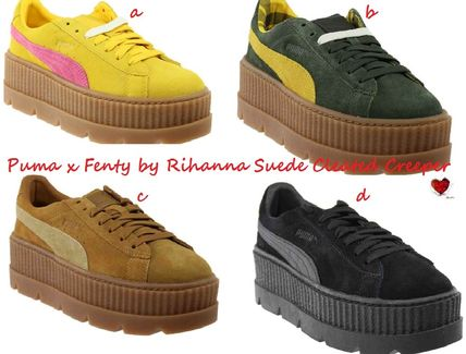 newest collection 95ef3 4e3dd Love Puma x Fenty by Rihanna Suede Cleated Creeper