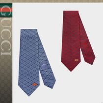 2‐5日発【GUCCI】GUCCI GAME シルク タイ Red Blue 2018-19AW
