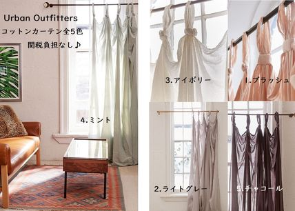Urban Outfitters カーテン Urban Outfitters★素敵♪コットン*床丈ループカーテン*全5色
