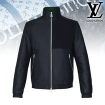 【直営】Louis Vuitton REVERSIBLE FLEECE LEATHER MIX BLOUSON