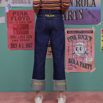 rolarola★韓国デニムパンツ WIDE ROLL-UP SELVAGE DENIM PANTS