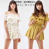 送関税込☆Chicwish☆Pineapple Illusion Off-Shoulder Playsuit