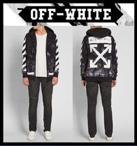 ★関税込★Off-White★DIAG GALAXY BRUSHED ZIP-UP HOODIE★