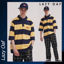 LAZY OAF(レイジーオーフ) ポロシャツ LAZY OAF Stripey Cheese Polo シャツ ポロシャツ トップス