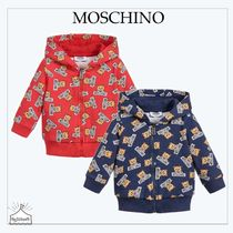Moschino☆BABY コットンジップアップトップ blue/red 6-36M