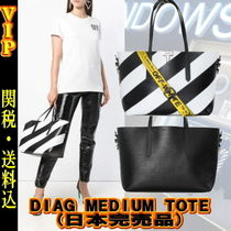 ◆◆VIP◆◆ Off-White DIAG MEDIUM TOTE - UNISEX  /日本完売品
