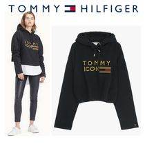 Tommy Icons Cropped hoodie★日本完売★ビッグロゴフーディ