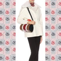 MONCLER GAMME ROUGE ファーウールシルクダウンジャケット WHITE