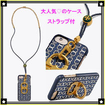 Tory Burch☆GEMINI LINK CASE☆iPhone8☆お洒落なストラップ付