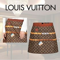 VIP価格【Louis Vuitton】MINI-JUPE A IMPRIME MALLE 関税込