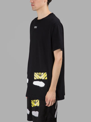 Off-White Tシャツ・カットソー 即発送 OFF WHITE SPRAY DIAGONALS T-SHIRT(3)
