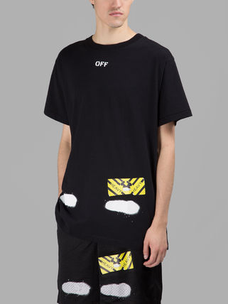 Off-White Tシャツ・カットソー 即発送 OFF WHITE SPRAY DIAGONALS T-SHIRT(8)