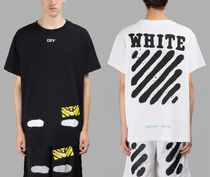 即発送 OFF WHITE SPRAY DIAGONALS T-SHIRT