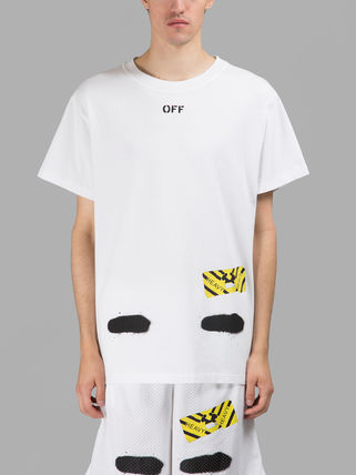Off-White Tシャツ・カットソー 即発送 OFF WHITE SPRAY DIAGONALS T-SHIRT(9)