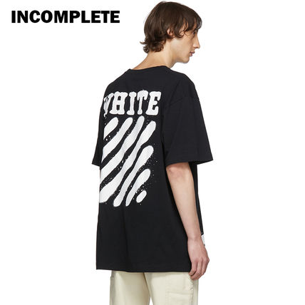 Off-White Tシャツ・カットソー 即発送 OFF WHITE SPRAY DIAGONALS T-SHIRT(15)