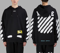 即発送 OFF WHITE SPRAY DIAGONALS HOODIE PARKA