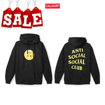 【在庫処分SALE】ANTI SOCIAL SOCIAL CLUB HMU BLACK HOODY/S