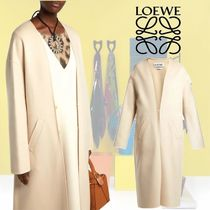 【18AW】★LOEWE★Collarless V-neck coat