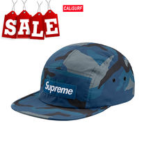 【在庫処分SALE】AW18 Supreme reflective camo camp cap/BLUE