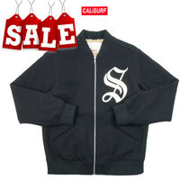 【在庫処分SALE】AW18 Supreme OLD ENGLISH ZIP VARSITY/M /BLK