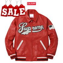 【在庫処分SALE】Supreme(シュプリーム)STUDDED LEATHER VARSITY